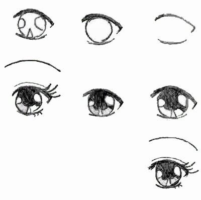 как рисовать аниме лицо карандашом: