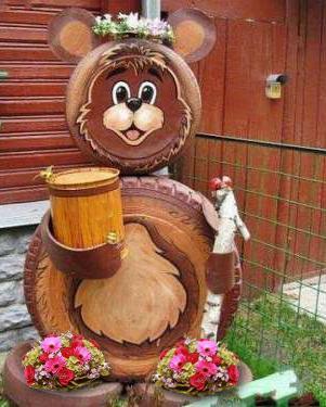 Медведь из колес своими руками