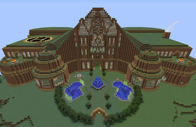 Картинки как построить большой и красивый дом в майнкрафт