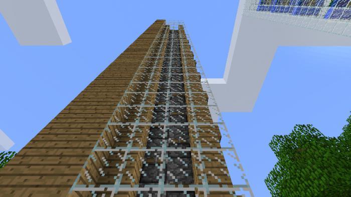 самый лучший лифт в minecraft без модов