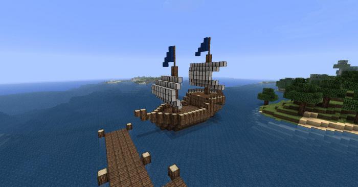 как в майнкрафте сделать корабль