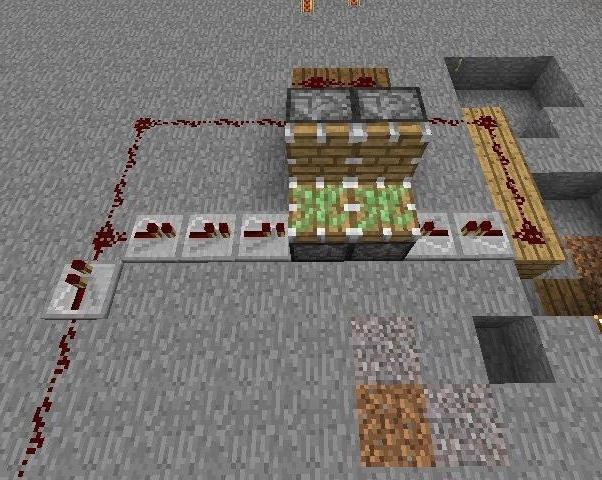 как использовать поршень в minecraft #10