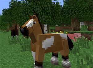 майнкрафт как садиться на лошадь