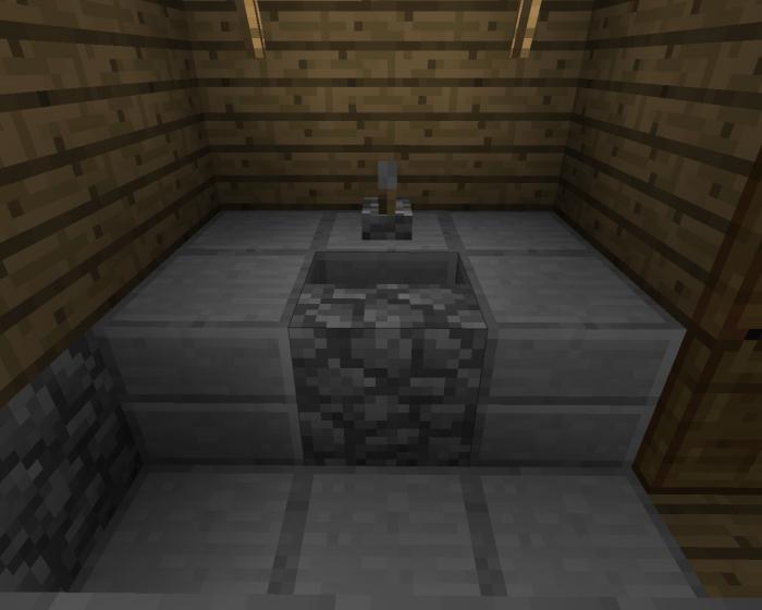 как построить туалет в майнкрафт