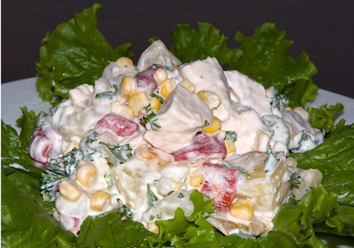 Простые праздничные салаты рецепты с ананасом 125