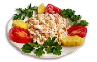рецепты салатов с куриной грудкой копченой