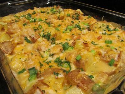 куриная грудка в духовке с картошкой