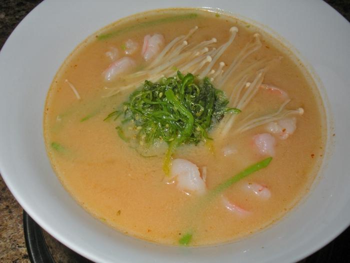 рецепт супа из креветок сырный