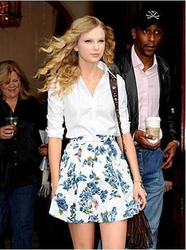 Летняя юбка с цветами с чем носить