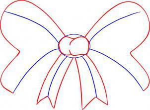 как нарисовать бантик карандашом