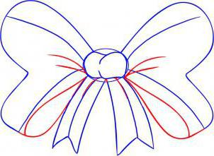 как нарисовать бантик
