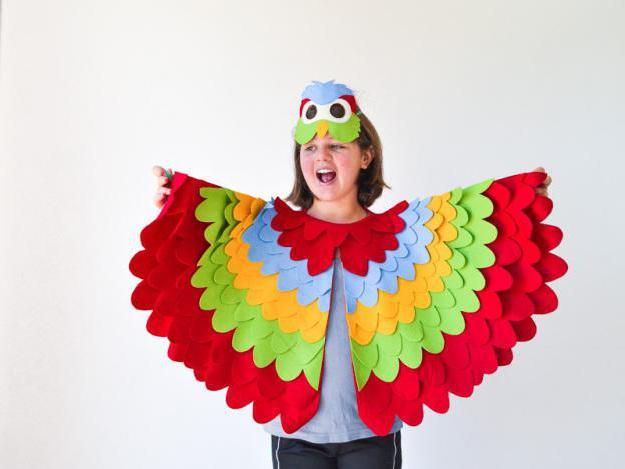 костюм попугая для девочки своими руками