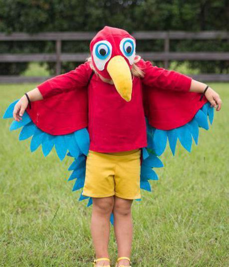 костюм попугая своими руками для мальчика