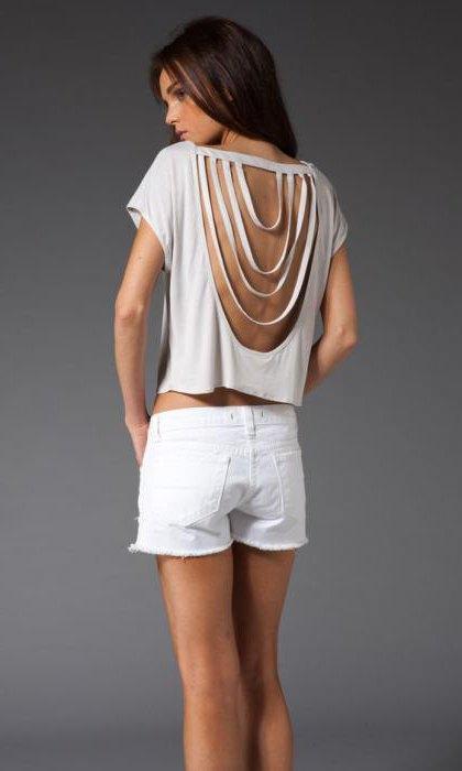 что можно сделать из старой белой футболки