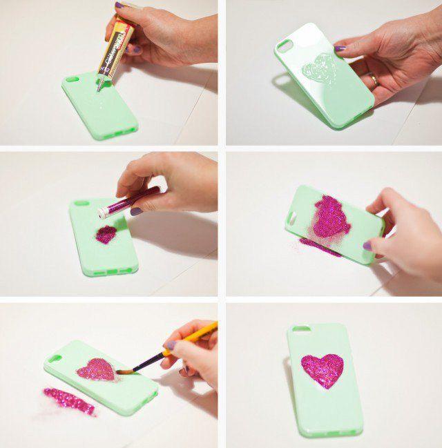 украсить чехол книжку для телефона руками