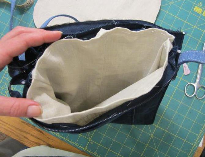 выкройка сумки из джинсов фото