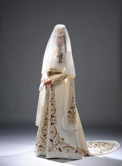 чеченский свадебный наряд