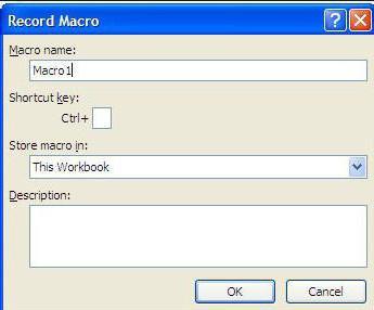 программирование в Excel