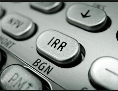 как рассчитать IRR в Excel пример