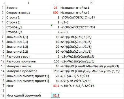 как сделать интерполяцию в Excel
