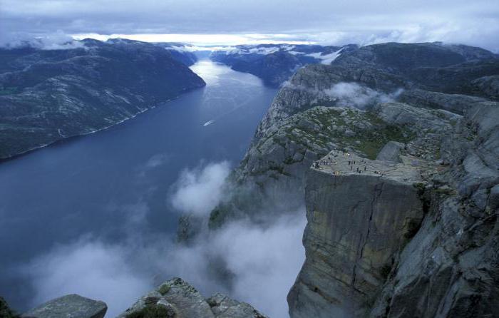 прекестулен самый красивый утес в мире норвегия