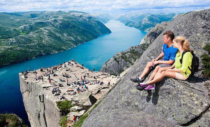 скала прекестулен норвегия