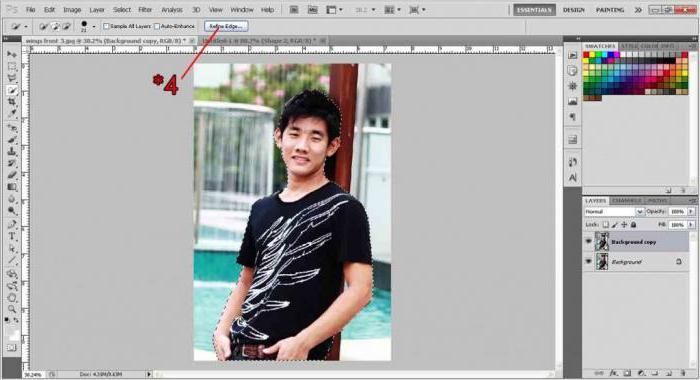 как вырезать предмет из картинки в фотошопе