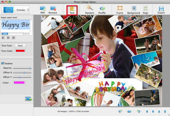 photo collage on pc monitor