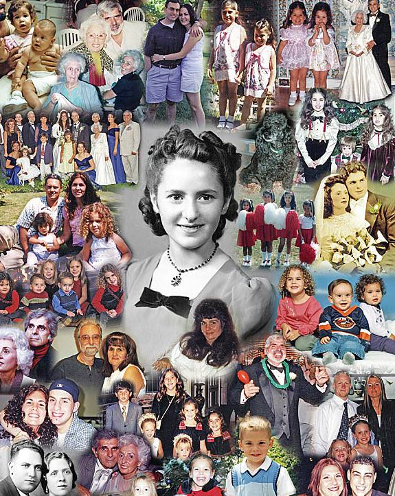 family photo collage for gift