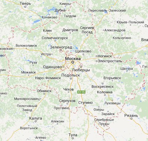 карта московской области с