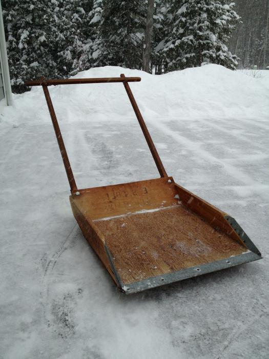 Приспособление уборка снега своими руками