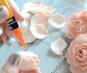 выкройка розы из фоамирана