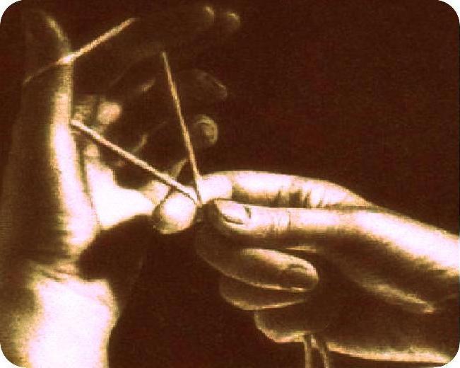 Учимся вязать. Как набрать петли на спицах?