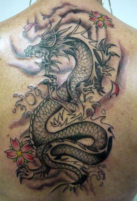 Мужские татуировки на спине