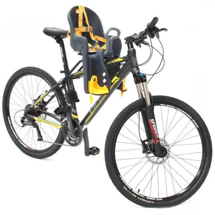 кресла для детей на велосипед