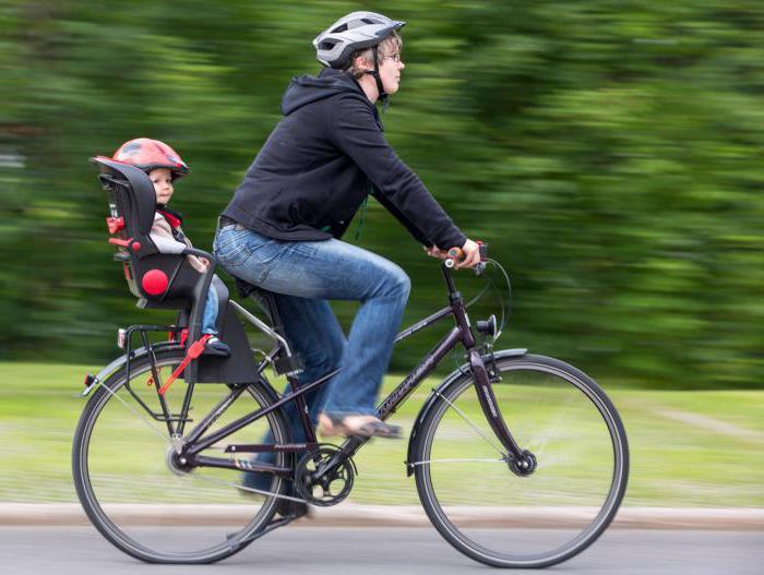 кресло для перевозки детей на велосипеде