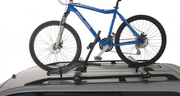 крепление для перевозки велосипеда на крыше автомобиля