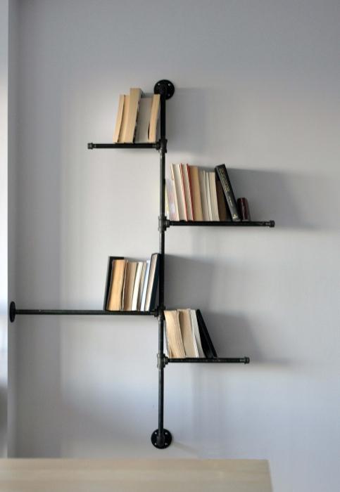 книжные полки навесные своими руками
