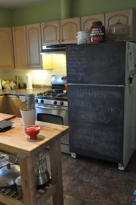 грифельная доска на холодильник