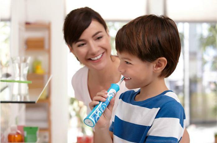 Электрическая зубная щетка для детей