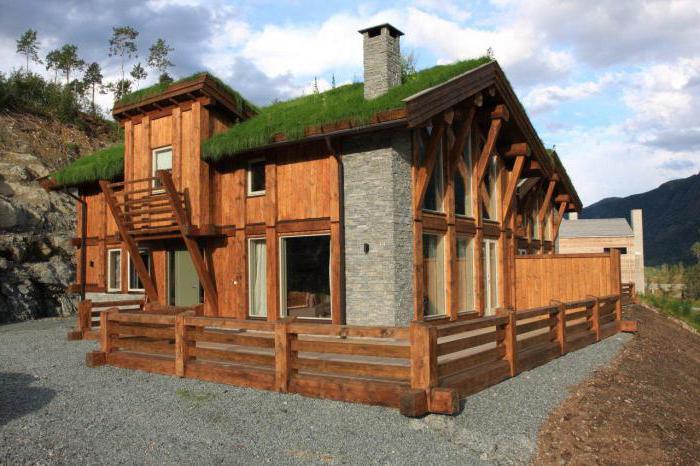 норвежский дом из вертикального бруса
