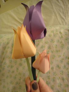 как делать тюльпан из бумаги