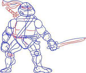 как нарисовать черепашку ниндзя леонардо
