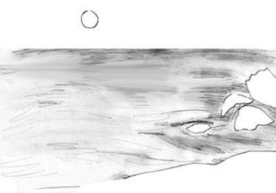 как нарисовать море поэтапно