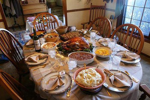 праздничный обед блюда