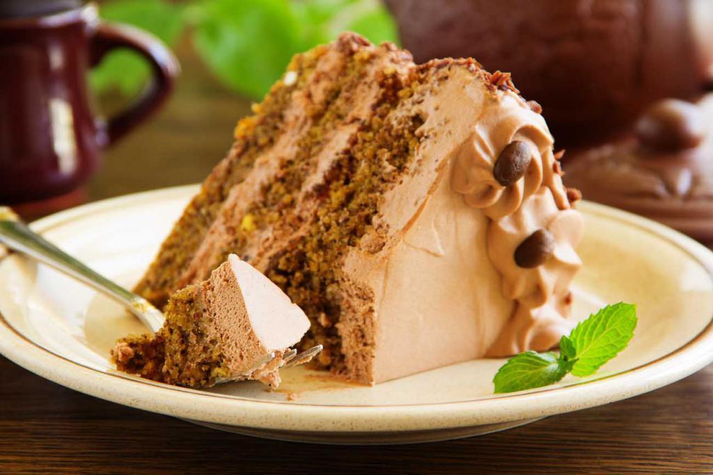 Шоколадно-кофейный торт.