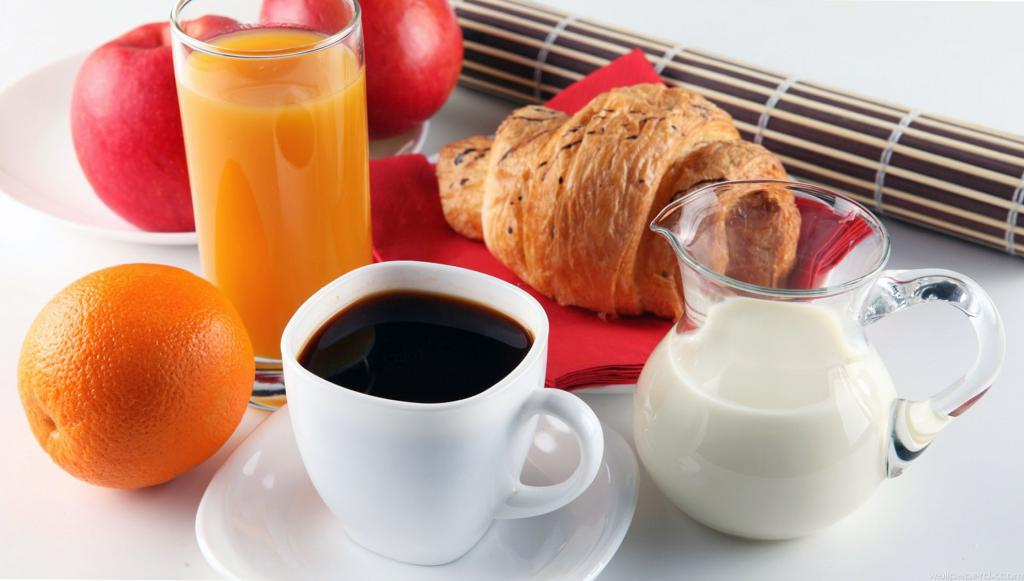 Coffee with orange and milk.