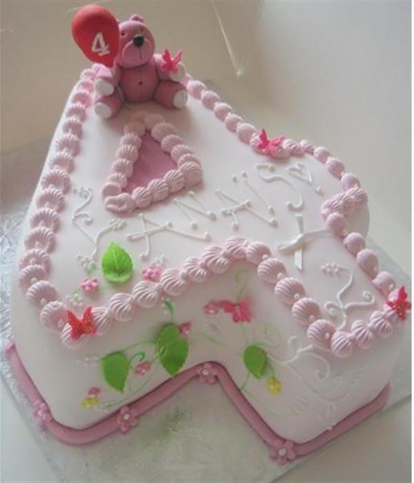 Торт девочке на 4 года