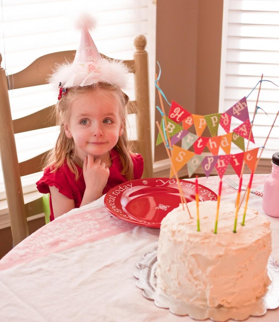 Торт с растяжкой из флажков
