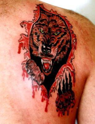что означает волк тату на руке